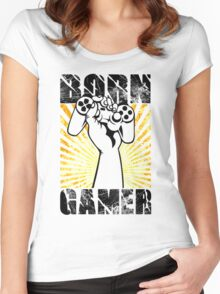 Born Gamer Women's Fitted Scoop T-Shirt
