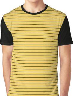 Primrose Yellow and Black Stripes Graphic T-Shirt