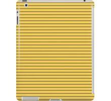 Primrose Yellow and Black Stripes iPad Case/Skin