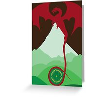 The King Under the Mountain Greeting Card