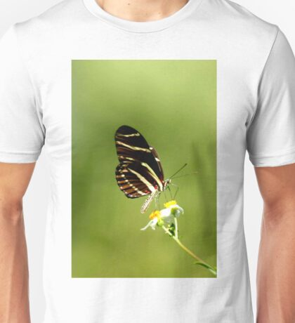 ZEBRA LONGWING BUTTERFLY Unisex T-Shirt