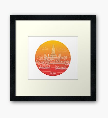 Wat Arun - Day Framed Print