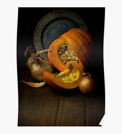 Still life with pumpkin Poster