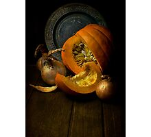 Still life with pumpkin Photographic Print