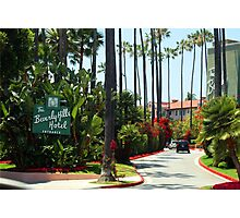 Beverly Hills Hotel California Photographic Print