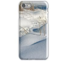 fresh falling snow and little snow drifts with stubble  iPhone Case/Skin