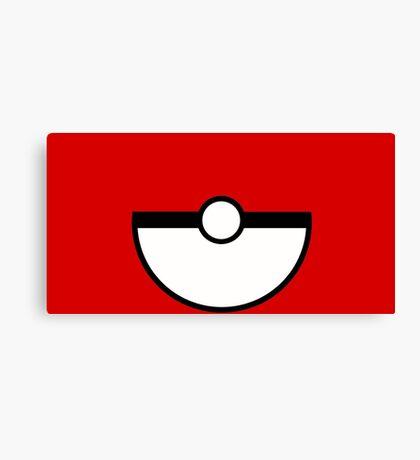 Pokemon - Pokeball RED White Canvas Print
