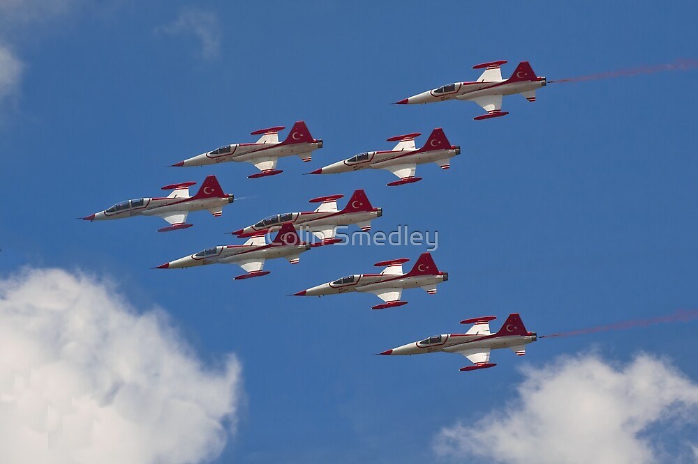 NF-5As and NF-5Bs of the Turkish Stars by Colin Smedley