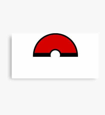 Pokemon - Pokeball WHITE Red Canvas Print