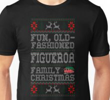 Fun Old Fashioned Figueroa Family Christmas Ugly T-Shirt Unisex T-Shirt