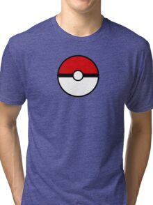 Pokemon - Pokeball RED WHITE Tri-blend T-Shirt