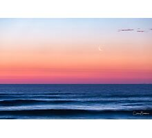 Magical moonset Photographic Print