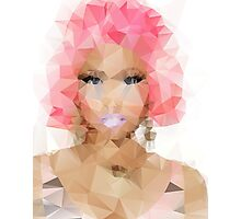 Nicki Minaj Polygon Photographic Print