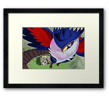 Honchkrow PokeFan Art Framed Print