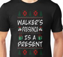 Walker Presence Is Present Christmas Ugly T Shirt T-Shirt Unisex T-Shirt