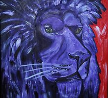 Majestic Purple Royal Lion by Maureen Zaharie