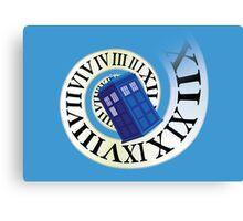 TARDIS in time Canvas Print