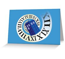 TARDIS in time Greeting Card