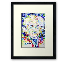 ALBERT EINSTEIN - watercolor portrait.1 Framed Print