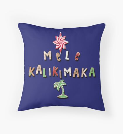 Hawaiian Gingerbread Cookies and Candy 2.0 Throw Pillow