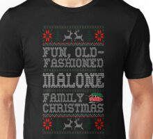 Fun Old Fashioned Malone Family Christmas Ugly T-Shirt Unisex T-Shirt