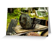 Old Metal and Wooden Stuff/Objects - Object Photography Greeting Card