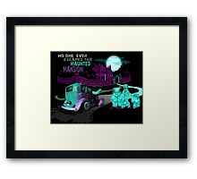 No Escaping the Haunted Mansion Framed Print
