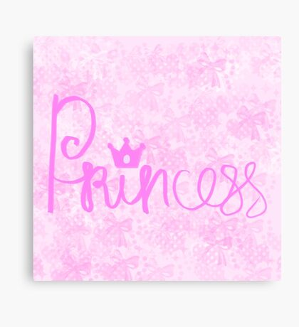 Typography Princess Canvas Print