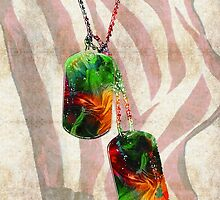 Military Art Dog Tags - Honor 2 - By Sharon Cummings  by Sharon Cummings