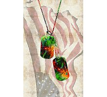 Military Art Dog Tags - Honor 2 - By Sharon Cummings  Photographic Print