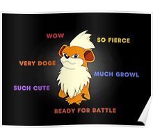 Such Growlithe Poster
