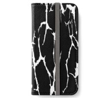 Cracked Web Distressed Texture Print Design iPhone Wallet/Case/Skin