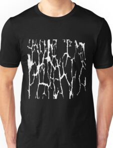 Cracked Web Distressed Texture Print Design Unisex T-Shirt