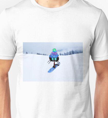 Snowboarding Cat Unisex T-Shirt