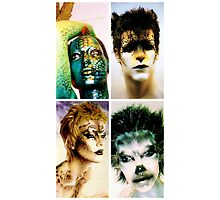 Four animal painted mannequins Photographic Print
