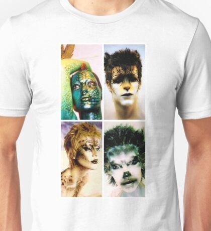 Four animal painted mannequins Unisex T-Shirt