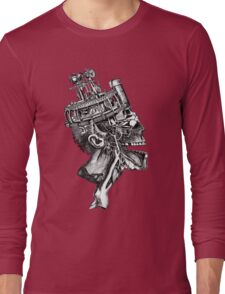 Steampunk anatomy illustration Long Sleeve T-Shirt