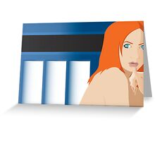 Blue Pond Pin Up Greeting Card