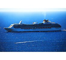 Island Princess in The Pacific Ocean Photographic Print