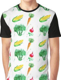 Watercolor vegetables design Graphic T-Shirt