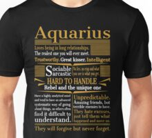 Aquarius Loves Being In Long Relationships Unisex T-Shirt