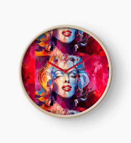 Marylin Monroe portrait Clock