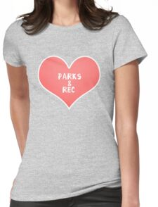 Parks & Rec Sticker Womens Fitted T-Shirt