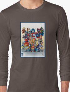 80's Cartoon Mashup Long Sleeve T-Shirt