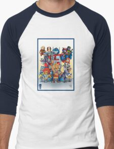80's Cartoon Mashup Men's Baseball ¾ T-Shirt