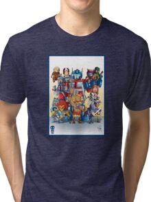 80's Cartoon Mashup Tri-blend T-Shirt