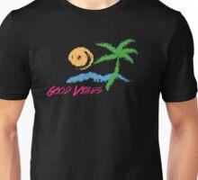 Good Vibes Beach Retro Sunset Print Design Unisex T-Shirt