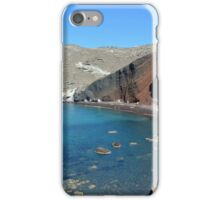 View of the seacoast and the beautiful Red beach. Santorini island, Greece iPhone Case/Skin