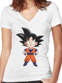Dragon Ball Z Goku Gohan Women's Fitted V-Neck T-Shirt