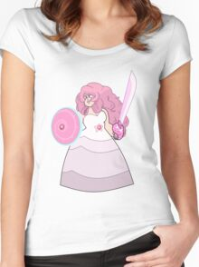 Steven Universe Rose Quartz Crystal Gems Women's Fitted Scoop T-Shirt